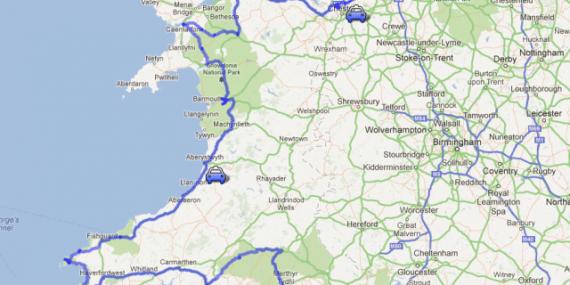 Itinéraire Pays de Galles